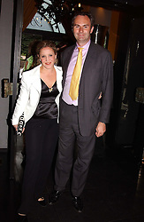 MR & MRS WILLIAM CASH at Tatler Magazine's Summer Party held at the Baglioni Hotel, 60 Hyde Park Gate, London SW7 on 1st July 2004.