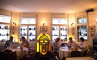 Zagreb, Croatia- May 7, 2015: Patrons enjoy lunch at Bistro Fotic, a restaurant that once was a photography shop and gallery. CREDIT: Chris Carmichael for The New York Times