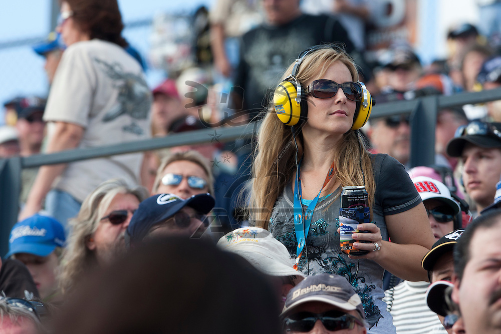 Avondale, AZ - NOV 13, 2011:  NASCAR fans watch the Kobalt Tools 500 race at the Phoenix International Raceway in Avondale, AZ.