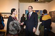 VARVARA SHAVROVA; MATTHEW FLOWERS, Preview for the London Art Fair,  Islington Business Design Centre. London. 13 January 2014