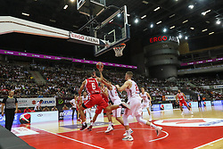 September 17, 2018 - Gdansk, Poland - Rok Stipcevic (6) of Croatia in action against Tomasz Gielo (21) of Poland is seen in Gdansk, Poland on 17 September 2018  Poland faces Croatia during the Basketball World Cup China 2019 Qualifiers game in the ERGO Arena sports hall in Gdansk  (Credit Image: © Michal Fludra/NurPhoto/ZUMA Press)