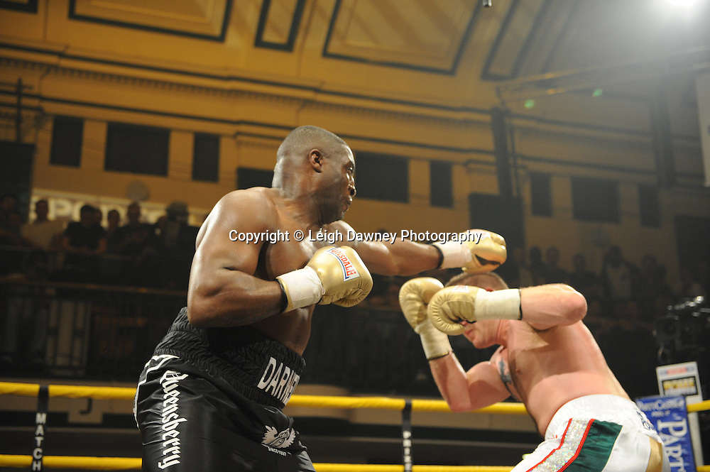 Michael Sprott defeats Shane McPhilibin at Prizefighter The Heavyweights 9th Ocrtober 2010 at York Hall, Bethnal Green, London. Prizefighter/Matchroom Sport. Barry & Eddie Hearn © Photo credit: Leigh Dawney