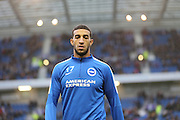 Conor Goldson during the Sky Bet Championship match between Brighton and Hove Albion and Milton Keynes Dons at the American Express Community Stadium, Brighton and Hove, England on 7 November 2015.