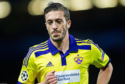 Agim Ibraimi of Maribor during football match between Chelsea FC and NK Maribor, SLO in Group G of Group Stage of UEFA Champions League 2014/15, on October 21, 2014 in Stamford Bridge Stadium, London, Great Britain. Photo by Vid Ponikvar / Sportida.com