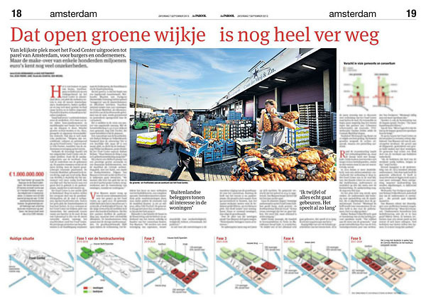 Parool 7 september 2013: Food Center Amsterdam
