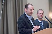 "18174Sales Celebration and Awards Ceremony, April 19, 2007. Walter Hall Rotunda...""More Than Kapleble"" Award presented by Mr. Greg Kaple to Brad Mirsch"