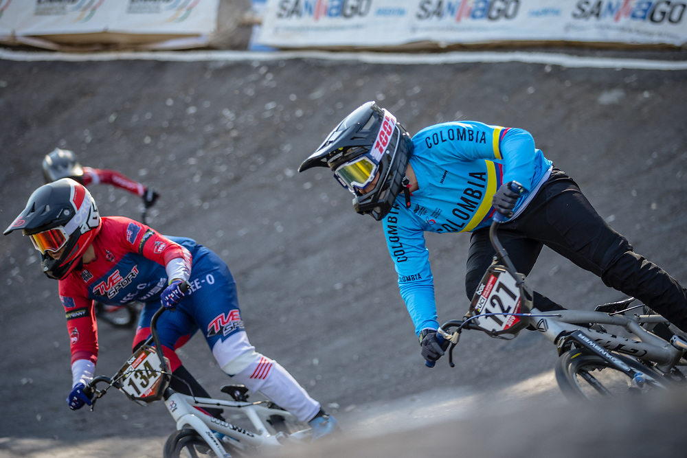 #127 (ESCOBAR YEPES Andrea) COL  at Round 9 of the 2019 UCI BMX Supercross World Cup in Santiago del Estero, Argentina