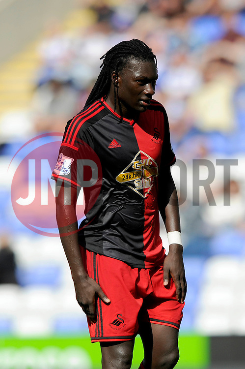Swansea City's new signing, Bafetimbi Gomis - Photo mandatory by-line: Dougie Allward/JMP - Mobile: 07966 386802 02/08/2014 - SPORT - FOOTBALL - Reading - Madejski Stadium - Reading v Swansea - Pre-Season Friendly