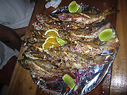 Outdoor fish restaurant at Caye Caulker, Belize