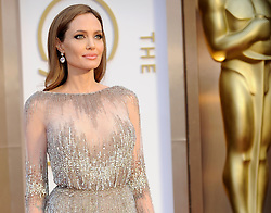 Angelina Jolie arriving to the 2014 Oscars at the Hollywood and Highland Center in Hollywood, California, USA,  Sunday, 2nd March 2014. Picture by Hollywood Bubbles / i-Images<br /> UK ONLY