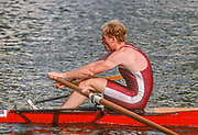 Henley on Thames,  United Kingdom, Diamond Challenge Scull, Men's single sculls event, USA., Competitor, Andy SUDDETH, 1988 Henley Royal Regatta, Henley Reach, Thames Valley, British Summertime.<br /> [Mandatory Credit, Peter SPURRIER/Intersport Images] <br /> <br /> Scans from Positives, April 2019