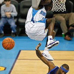 Mar 22, 2010; New Orleans, LA, USA; Dallas Mavericks guard Jason Terry (31) avoids New Orleans Hornets guard Darren Collison (2) following a dunk during the second half at the New Orleans Arena. The Hornets defeated the Mavericks 115-99. Mandatory Credit: Derick E. Hingle-US PRESSWIRE