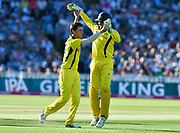 Wicket - Mitchell Swepson of Australia celebrates taking the wicket of Jos Buttler of England during the International T20 match between England and Australia at Edgbaston, Birmingham, United Kingdom on 27 June 2018. Picture by Graham Hunt.