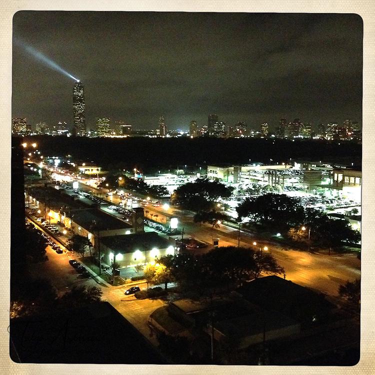 Spot light to nowhere - Houston, Texas
