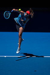 January 14, 2019 - Melbourne, VIC, U.S. - MELBOURNE, VIC - JANUARY 14:MARIA SHARAPOVA (RUS) during day one match of the 2019 Australian Open on January 14, 2019 at Melbourne Park Tennis Centre Melbourne, Australia (Photo by Chaz Niell/Icon Sportswire) (Credit Image: © Chaz Niell/Icon SMI via ZUMA Press)