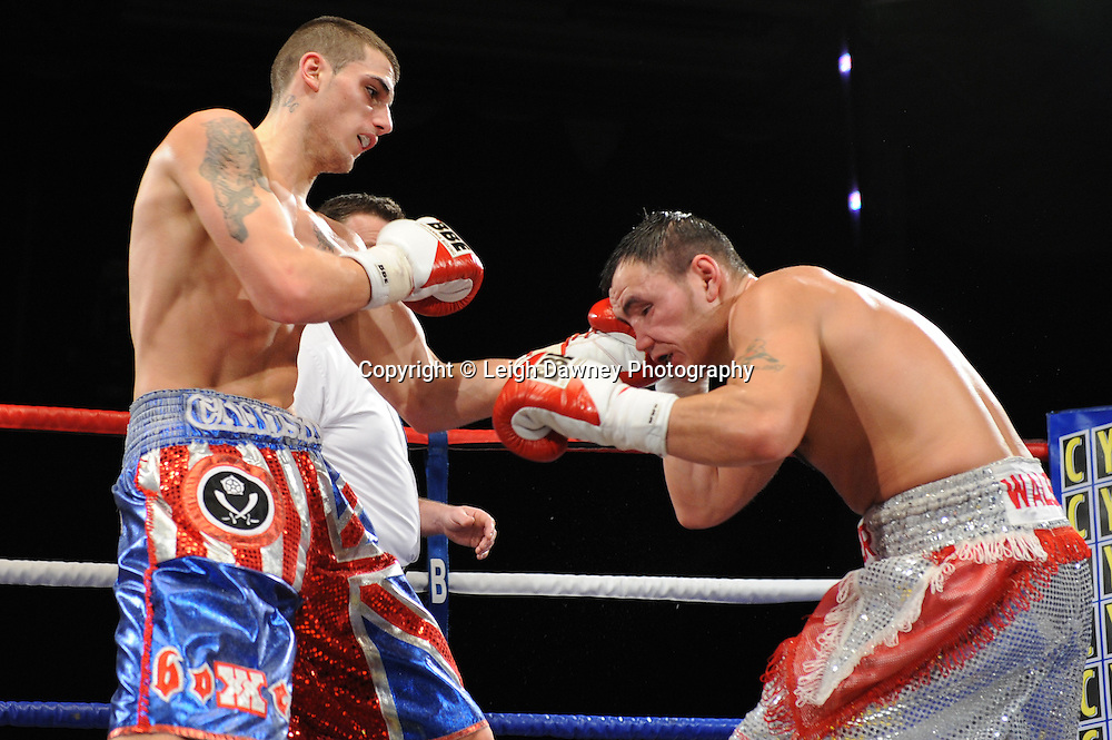 Liam Cameron defeats Lester Walsh - 22nd January 2011 at Doncaster Dome, Doncaster - Frank Maloney Promotions. Credit © Leigh Dawney.