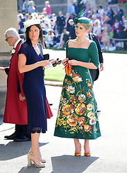 Lady Kitty Spencer (right) arrives at St George's Chapel at Windsor Castle for the wedding of Meghan Markle and Prince Harry.