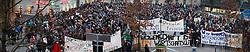 17.12.2013, Sonnenfeldplatz, Graz, AUT, Demo gegen die Zusammenlegung von Wissenschafts- und Wirtschaftsministerium, im Bild Studenten demonstrieren gegen die Abschaffung des Wissenschaftsministeriums am 17. Dezember 2013, EXPA Pictures © 2013, PhotoCredit: EXPA/ Erwin Scheriau