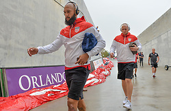 October 6, 2017 - Orlando, Florida, United States - Orlando, FL - Friday Oct. 06, 2017: Tim Howard, Brad Guzan during a 2018 FIFA World Cup Qualifier between the men's national teams of the United States (USA) and Panama (PAN) at Orlando City Stadium. (Credit Image: © John Todd/ISIPhotos via ZUMA Wire)