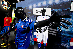 Jersey of Slovakia at Adidas central for FIFA World Cup 2010 on June 30, 2010 at Nelson Mandela Square in Sandton Convention Centre in Johannesburg. (Photo by Vid Ponikvar / Sportida)
