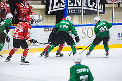 STIPANIC Blaz vs KOREN Gal during the match between HDD Jesenice vs HK SZ Olimpia at 16th International Summer Hockey League Bled 2019 on 24th August 2019. Photo by Peter Podobnik / Sportida