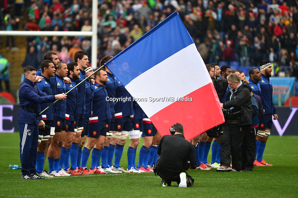 Groupe France - 15.03.2015 - Rugby - Italie / France - Tournoi des VI Nations -Rome<br /> Photo : David Winter / Icon Sport