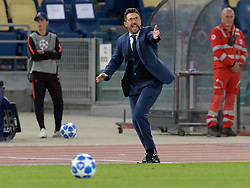 October 2, 2018 - Rome, Italy - Eusebio Di Francesco during the UEFA Champions League match group G between AS Roma and Viktoria Plzen at the Olympic stadium on october 02, 2018 in Rome, Italy. (Credit Image: © Silvia Lore/NurPhoto/ZUMA Press)