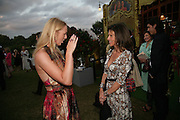 Caroline Casey and Cleo Shand , QUINTESSENTIALLY AND ELEPHANT FAMILY TRUNK SHOW PARTY. SERPENTINE PAVILION, HYDE PARK. 16 SEPTEMBER 2007. -DO NOT ARCHIVE-© Copyright Photograph by Dafydd Jones. 248 Clapham Rd. London SW9 0PZ. Tel 0207 820 0771. www.dafjones.com.