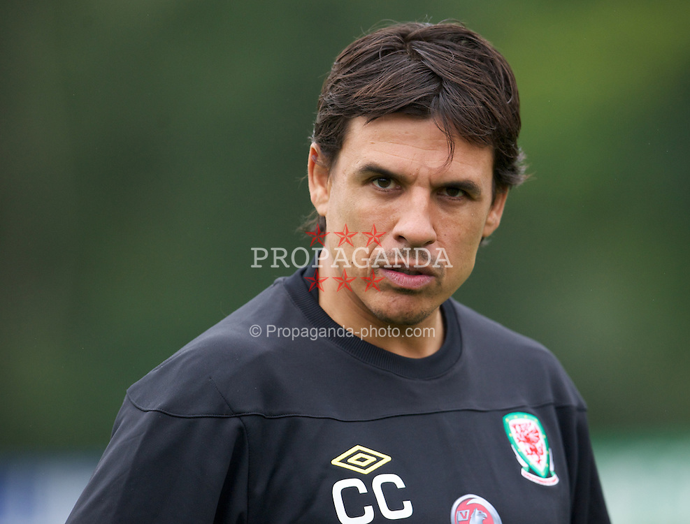 CARDIFF, WALES - Tuesday, September 4, 2012: Wales' manager Chris Coleman during a training session at the Vale of Glamorgan ahead of the Brazil 2014 FIFA World Cup Qualifying Group A match against Belgium. (Pic by David Rawcliffe/Propaganda)