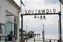 Soutwold Pier at Aviva Women's Tour 2016 - Stage 1. A 138.5 km road race from Southwold to Norwich, UK on June 15th 2016.