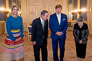 Koning Willem-Alexander en koningin Maxima ontvangen de voormalig secretaris-generaal van de Verenigde Naties, Ban Ki-Moon en zijn echtgenote, Ban Soon-taek, in audientie op Paleis Noordeinde. Ban Ki-Moon was Nederland vanwege de lancering van een internationale klimaatcommissie, de Global Commission on Adaptation.<br /> <br /> King Willem-Alexander and Queen Maxima receive the former Secretary-General of the United Nations, Ban Ki-Moon and his wife, Ban Soon-taek, in audience at Noordeinde Palace. Ban Ki-Moon was the Netherlands because of the launch of an international climate committee, the Global Commission on Adaptation.