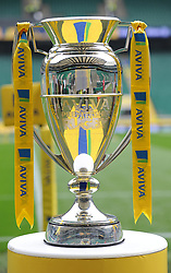 Aviva premiership trophy on Display prior to kick off.- Photo mandatory by-line: Alex James/JMP - 07966 386802 - 06/09/2014 - SPORT - RUGBY UNION - London, England - Twickenham Stadium - Saracens v Wasps - Aviva Premiership London Double Header.