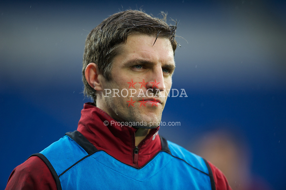 CARDIFF, WALES - Friday, Thursday, October 11, 2012: Wales' Sam Ricketts during training at the Cardiff City Stadium ahead of the 2014 FIFA World Cup Brazil Qualifying Group A match against Scotland. (Pic by David Rawcliffe/Propaganda)