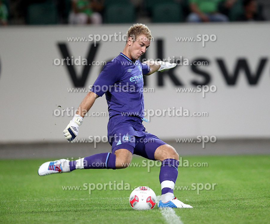 04.08.2012, Volkswagen Arena, Wolfsburg, GER, Testspiel, VfL Wolfsburg vs Manchester City, im Bild Joe Hart (Manchester City) // during Friendly Match between VfL Wolfsburg and Manchester City at the Volkswagen Arena, Wolfsburg, Germany on 2012/08/04. EXPA Pictures © 2012, PhotoCredit: EXPA/ Eibner/ Susanne Huebner..***** ATTENTION - OUT OF GER *****
