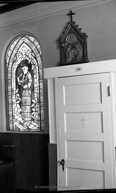 Confessional in Catholic Church , Davenport, California.