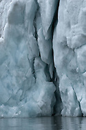 Hornsund, Norway. Crevasses in glacial wall. (20090810)