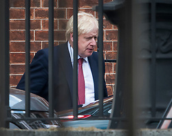 © Licensed to London News Pictures. 10/09/2019. London, UK. British Prime Minister BORIS JOHNSON is seen leaving Downing Street . PM Johnson Last night prorogued Parliament in the run up to Britain's planned Brexit deadline of October 31st. Photo credit: Ben Cawthra/LNP