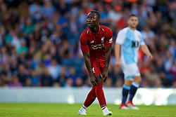 BLACKBURN, ENGLAND - Thursday, July 19, 2018: Liverpool's new signing Naby Keita pulls up his sock during a preseason friendly match between Blackburn Rovers FC and Liverpool FC at Ewood Park. (Pic by David Rawcliffe/Propaganda)