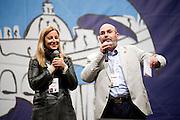 2013/05/23 Roma, il Movimento 5 Stelle chiude la campagna elettorale per le comunali. Nella foto Roberta Lombardi, Vito Crimi..Rome, M5S (five stars movement) closes his electoral campaign for mayor. In the picture Roberta Lombardi, Vito Crimi - © PIERPAOLO SCAVUZZO