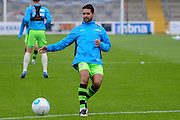 Forest Green Rovers midfielder Fabien Robert (26) warms up during the Vanarama National League match between Chester and Forest Green Rovers at the Deva Stadium, Chester, United Kingdom on 3 September 2016. Photo by Alan Franklin.