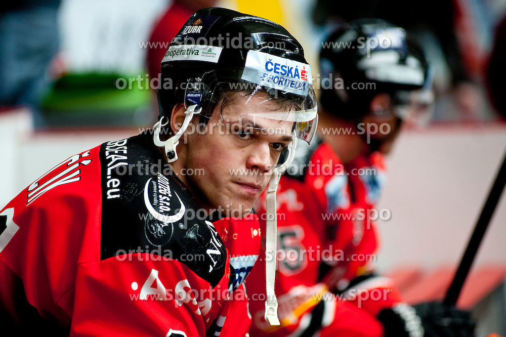 18.01.2015, Ice Rink, Znojmo, CZE, EBEL, HC Orli Znojmo vs UPC Vienna Capitals, 40. Runde, im Bild Martin Nemcik (HC Orli Znojmo) // during the Erste Bank Icehockey League 40th round match between HC Orli Znojmo and UPC Vienna Capitals at the Ice Rink in Znojmo, Czech Republic on 2015/01/18. EXPA Pictures © 2015, PhotoCredit: EXPA/ Rostislav Pfeffer