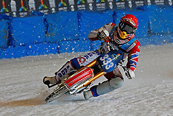 13.03.2016, Assen, BEL, FIM Eisspeedway Gladiators, Assen, im Bild Daniil Ivanov (RUS) // during the Astana Expo FIM Ice Speedway Gladiators World Championship in Assen, Belgium on 2016/03/13. EXPA Pictures © 2016, PhotoCredit: EXPA/ Eibner-Pressefoto/ Stiefel<br /> <br /> *****ATTENTION - OUT of GER*****