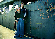 A punk / indie couple on bridge, Bristol, 2002