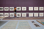 UNITED KINGDOM, London: 06 March 2018 A visitor walks past a collection of Picasso prints at The Tate Modern's new exhibition 'Picasso 1932: Love, Fame, Tragedy'. The exhibition, which consists of a wide range of Picasso works, runs from 8th March - 9 September 2018.  Rick Findler / Story Picture Agency