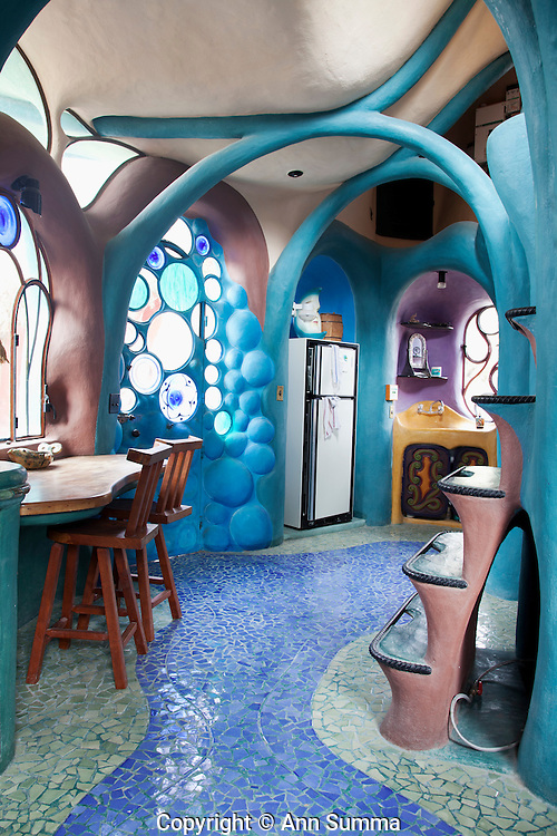 San Miguel de Allende, Mexico: The home of Tim Sullivan near San Miguel was designed by him and built by local masons, tile workers, painters and bricklayers (Photo: Ann Summa).