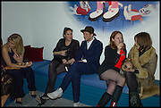 AURORE OGDEN; REBECCA GUINNESS; HENRY HUDSON;  DANIELLE EMERSON; BROOKE MCCORD, Julia Peyton-Jones, Hans Ulrich Obrist and Coach host the Serpentine Future Contemporaries Party. Serpentine Sackler Gallery. Kensington Gdns. London. 21 February 2015