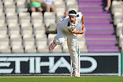 Jack Brooks of Yorkshire bowling during the Specsavers County Champ Div 1 match between Hampshire County Cricket Club and Yorkshire County Cricket Club at the Ageas Bowl, Southampton, United Kingdom on 1 September 2016. Photo by Graham Hunt.