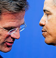 25-3-2014 THE HAGUE  - Final press conference of Barack Obama and Mark Rutte  for the NSS summit. COPYRIGHT ROBIN UTRECHT