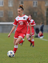 Bristol Academy Womens Gabbie Simmons-Bird in action during the pre-season friendly between Bristol Academy Women and Aston Villa Ladies at Stoke Gifford Stadium on 1 March 2015 in Bristol, England - Photo mandatory by-line: Paul Knight/JMP - Mobile: 07966 386802 - 01/03/2015 - SPORT - Football - Bristol - Stoke Gifford Stadium - Bristol Academy Women v Aston Villa Ladies - Pre-season friendly