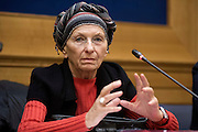 Rome apr est 2015, in the picture Mrs Emma Bonino, former foreign minister , who has publicly stated to be ill with cancer and being treated